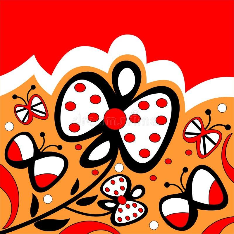 Download Flowers and butterflies stock vector. Image of design - 4839254