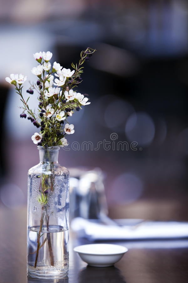 Download Flowers on Cafe Table stock photo. Image of crockery - 19831112