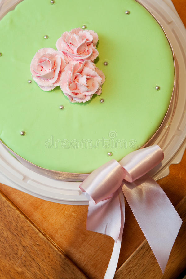 Flowers of the cake royalty free stock photo