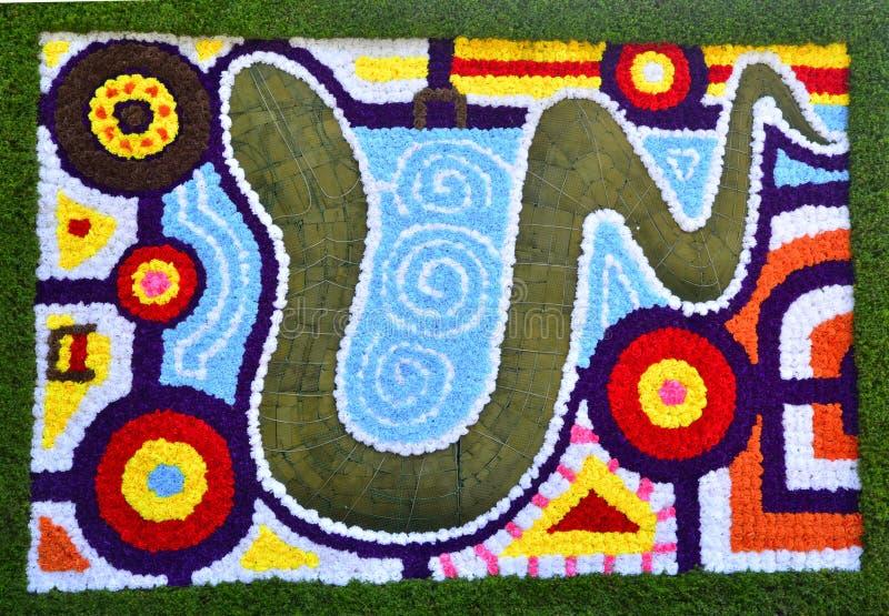 Flowers Carpet stock images