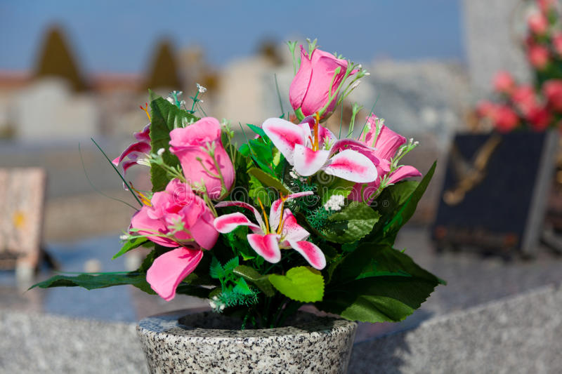 Download Flowers in the cemetery stock image. Image of decoration - 30021125