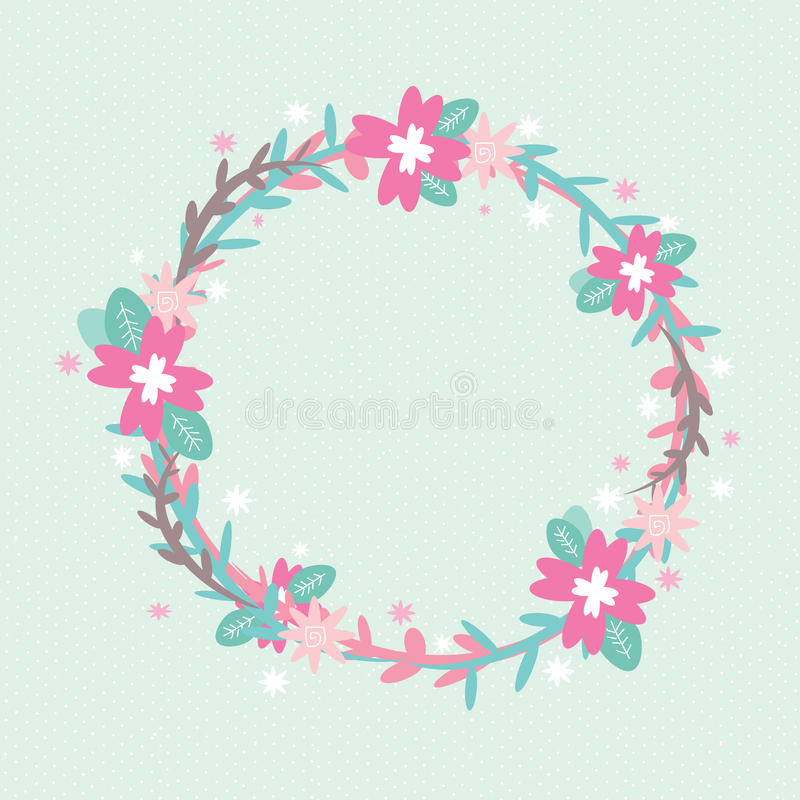 Flowers Circle stock photography