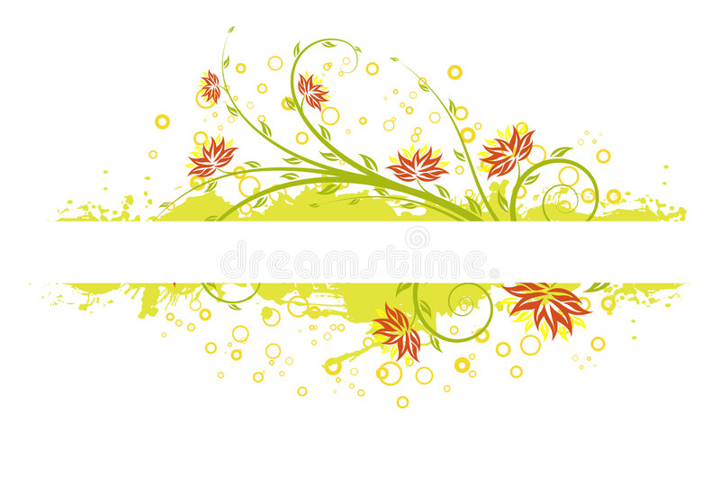 Flowers with circles royalty free illustration