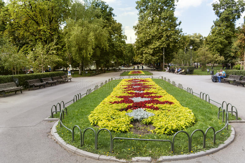 Flowers In The City Garden Of Sofia,in Front Of The Ivan Vazov ...