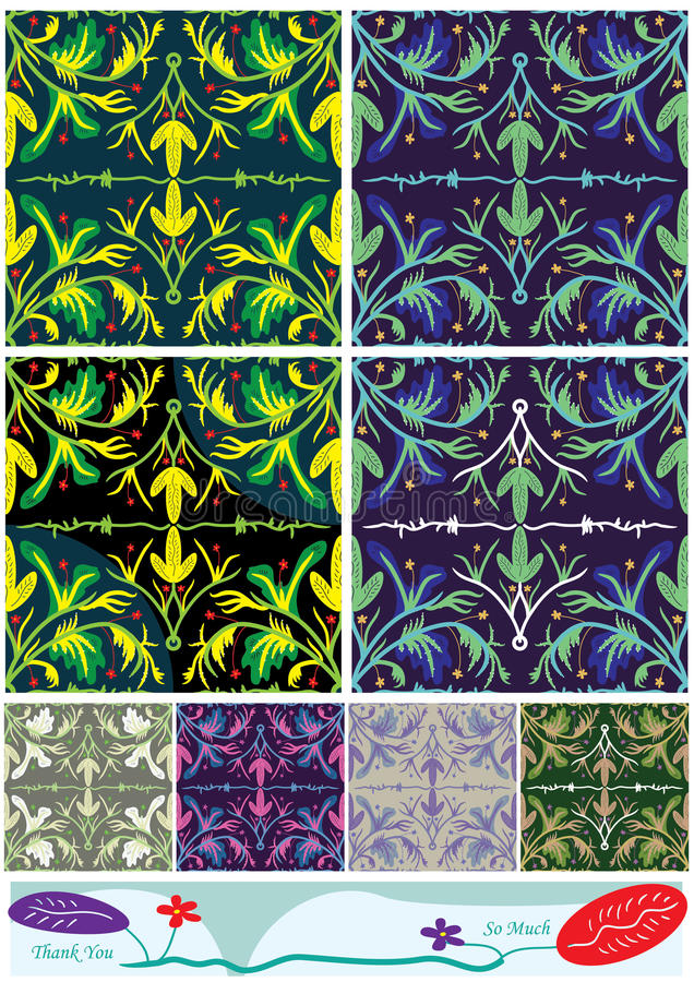 Flowers Colors Style Pattern_eps Stock Image