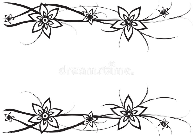 Download Flowers and curves stock vector. Image of flower, scale - 7134597