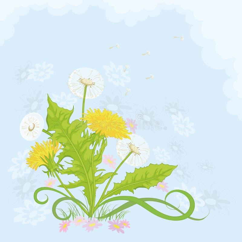 Download Flowers Dandelions In The Sky Stock Vector - Image: 23358042