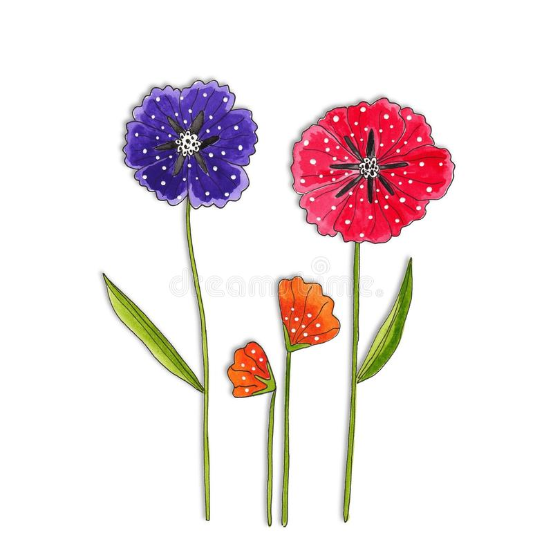 Download Flowers. Decorative Elements Royalty Free Stock Image - Image: 23654046