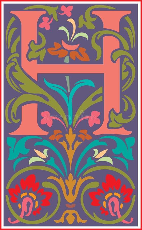 Flowers decorative letter h in color stock vector illustration of download flowers decorative letter h in color stock vector illustration of icon garden altavistaventures Choice Image