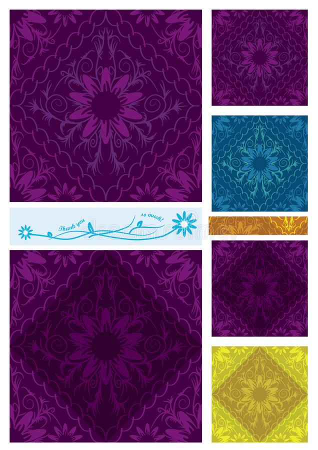 Free Flowers Diamond Seamless Pattern_eps Royalty Free Stock Photography - 20229507