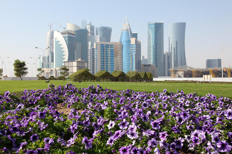 Download Flowers In Doha Downtown, Qatar Stock Image - Image: 28292531