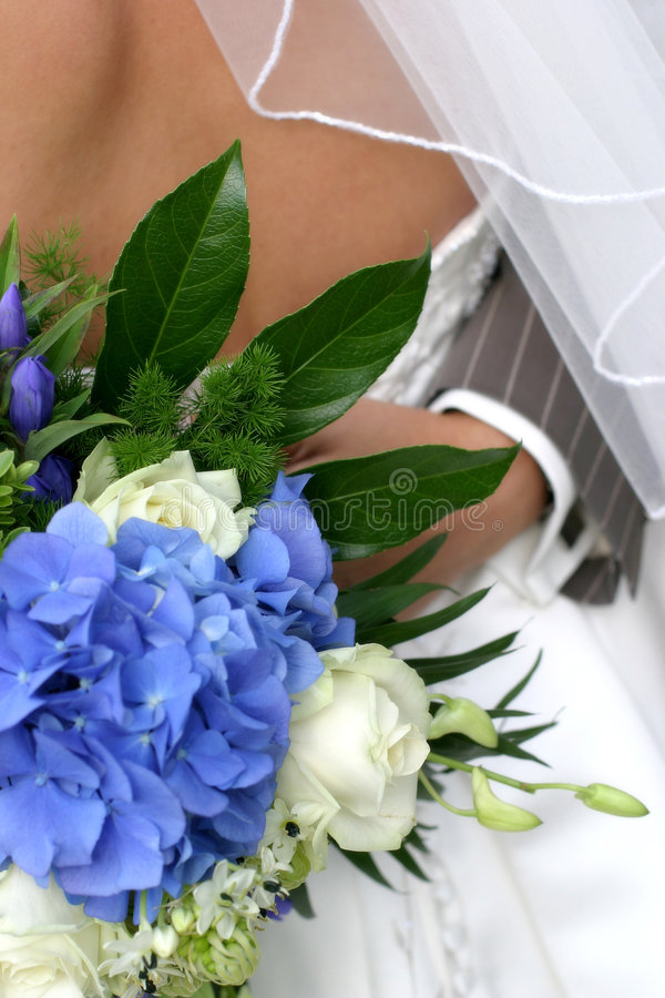 Flowers and dress royalty free stock photos