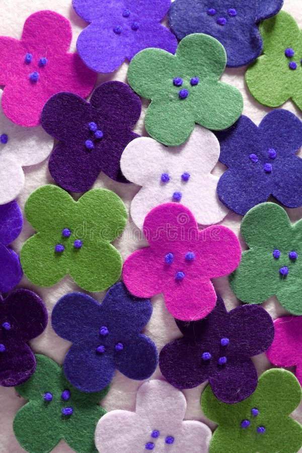 Flowers fabric pop colors wallpaper royalty free stock images