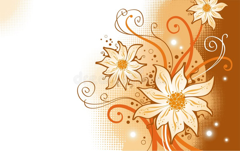 Download Flowers And Filigree Branches Stock Vector - Image: 2846084