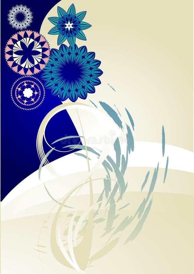 Flowers_frame royalty free illustration