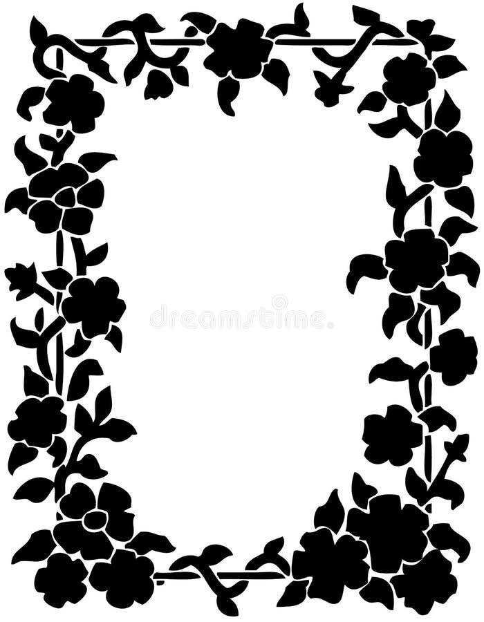 Flowers Frame stock illustration