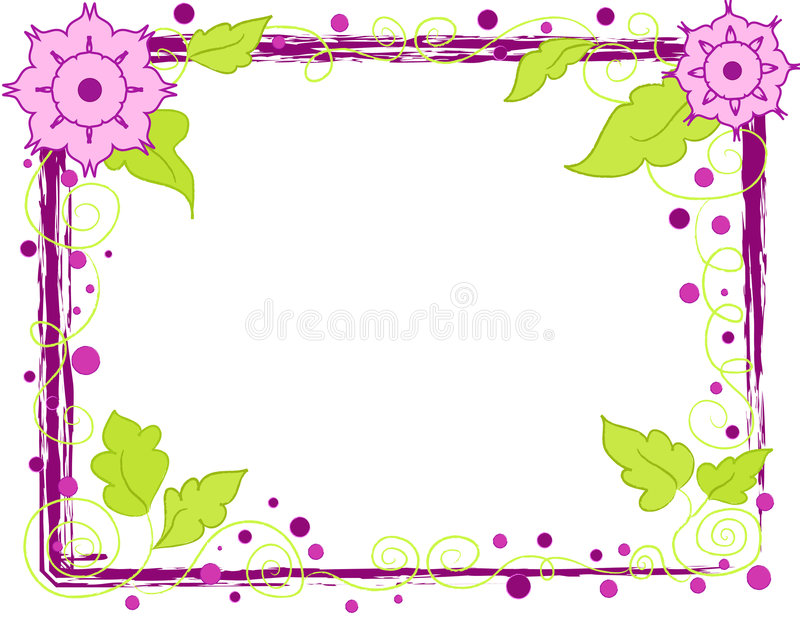 Download Flowers frame stock illustration. Image of floral, circles - 2573697