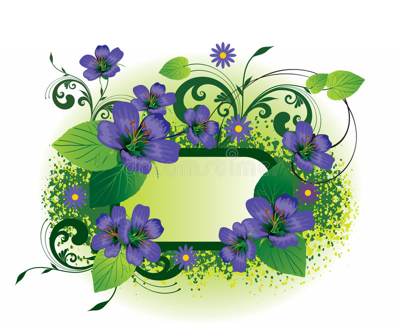 Download Flowers frame stock vector. Image of flower, design, abstract - 7430410