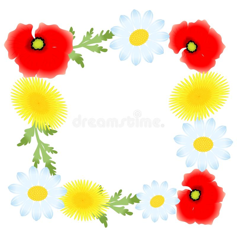 The flowers frame royalty free illustration