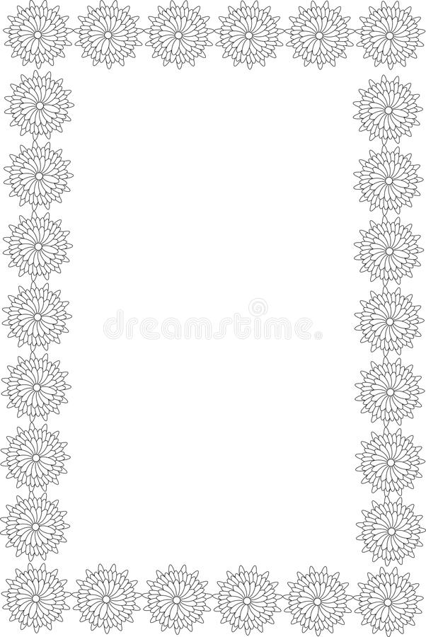 Download Flowers frame stock vector. Image of filigree, diploma - 48870129
