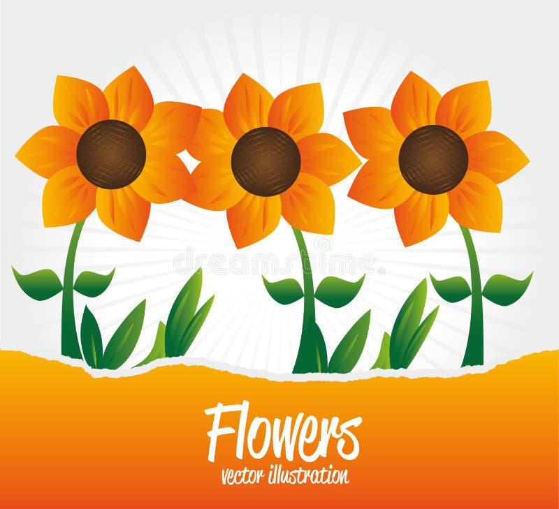 Flowers garden stock illustration