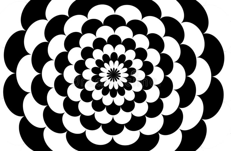 Flowers geometric seamless pattern background. Illustration design. Dress, shirt, skirt, fabric, clothing, repeat, floral, leaf, plant, retro, black royalty free illustration