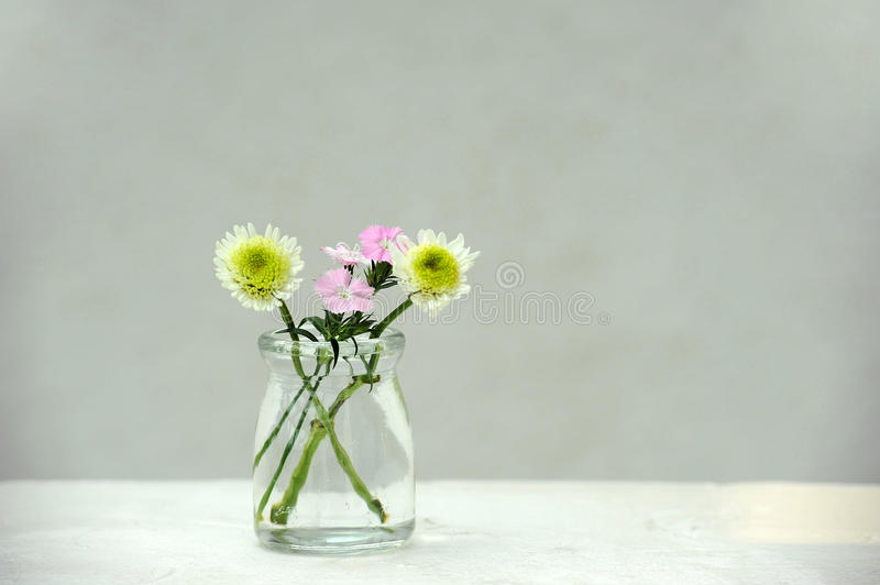 Download Flowers In A Glass Bottle Stock Images - Image: 19076714