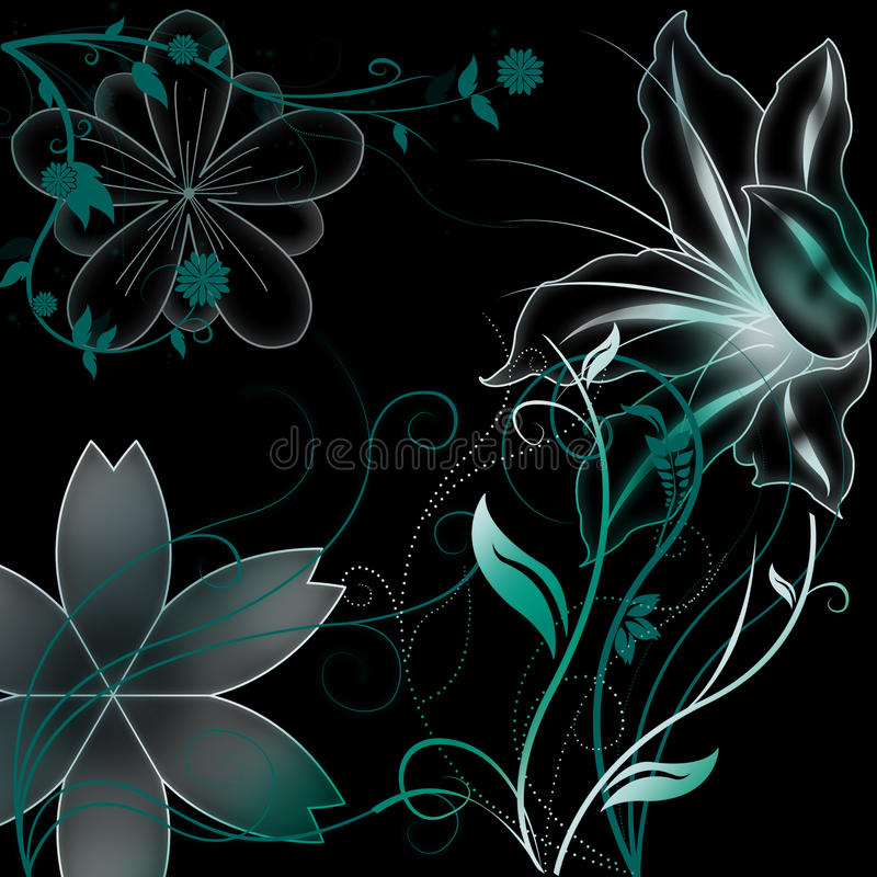 Download Flowers with gradient stock illustration. Illustration of decorative - 15293638