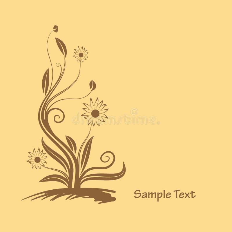 Flowers graphic design royalty free illustration