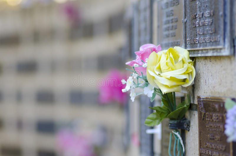 Download Flowers At Grave In Cemetery Stock Image - Image: 24584993