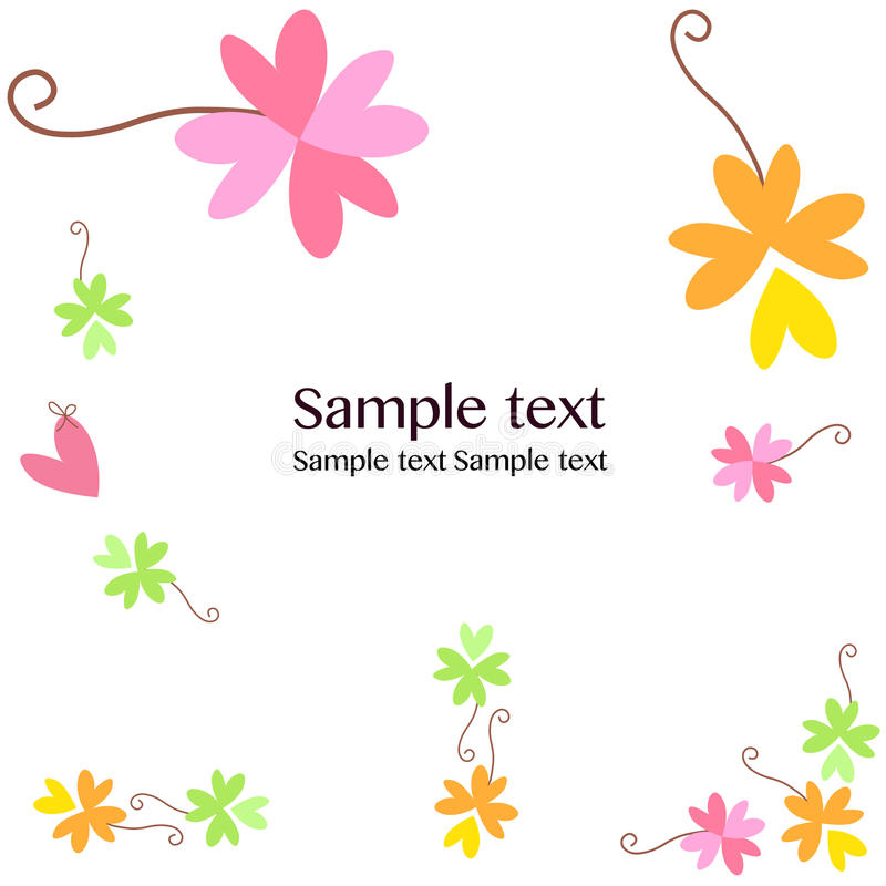 Flowers greeting card background vector. Greeting card stock illustration