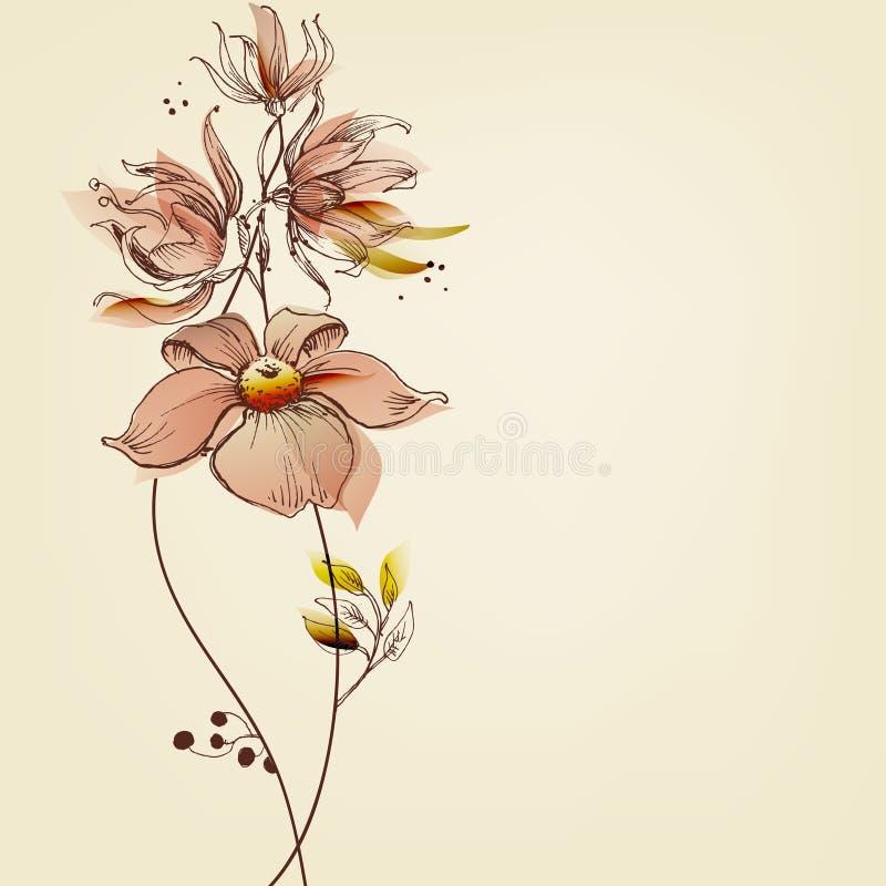 Flowers greeting card stock illustration