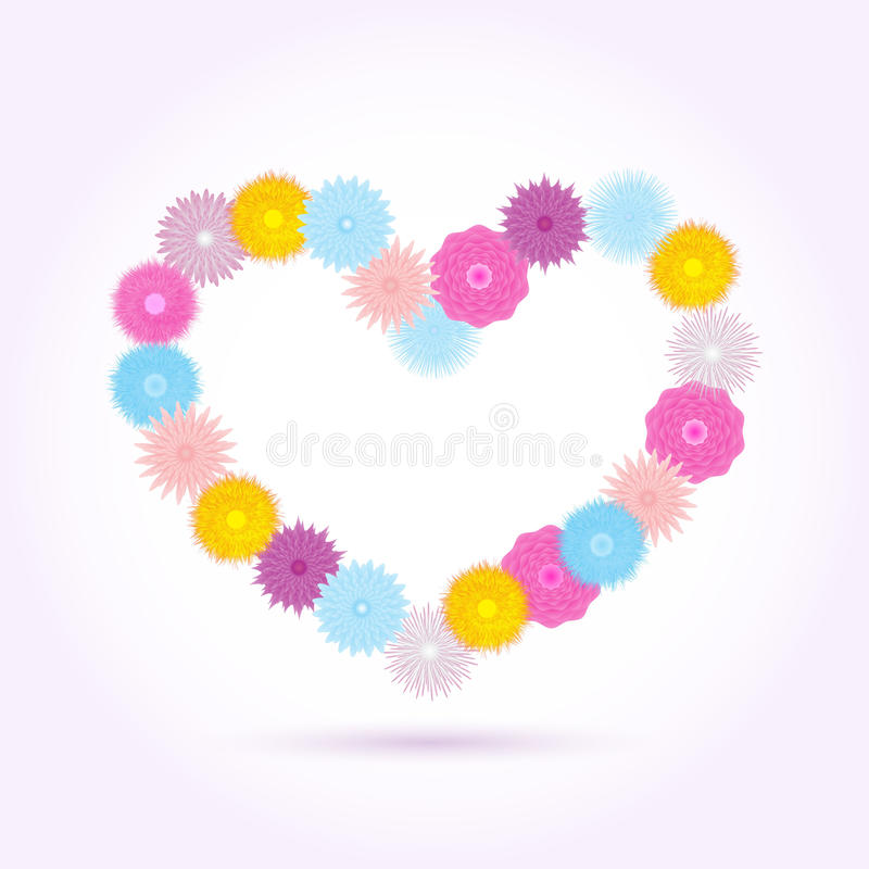 Download Flowers heart isolated stock vector. Image of paper, picture - 22503750