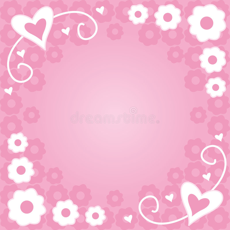 Download Flowers and hearts stock illustration. Image of flowers - 1724586