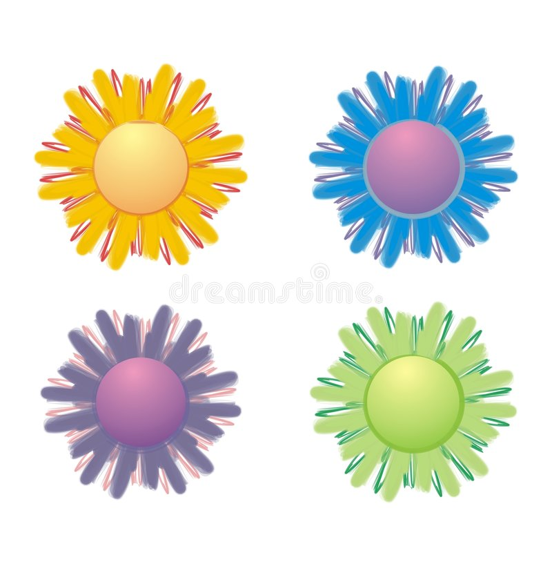 Flowers illustration stock illustration