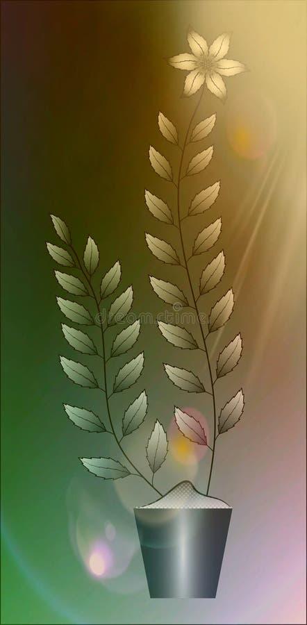 Flowers illustration on colourful background stock image