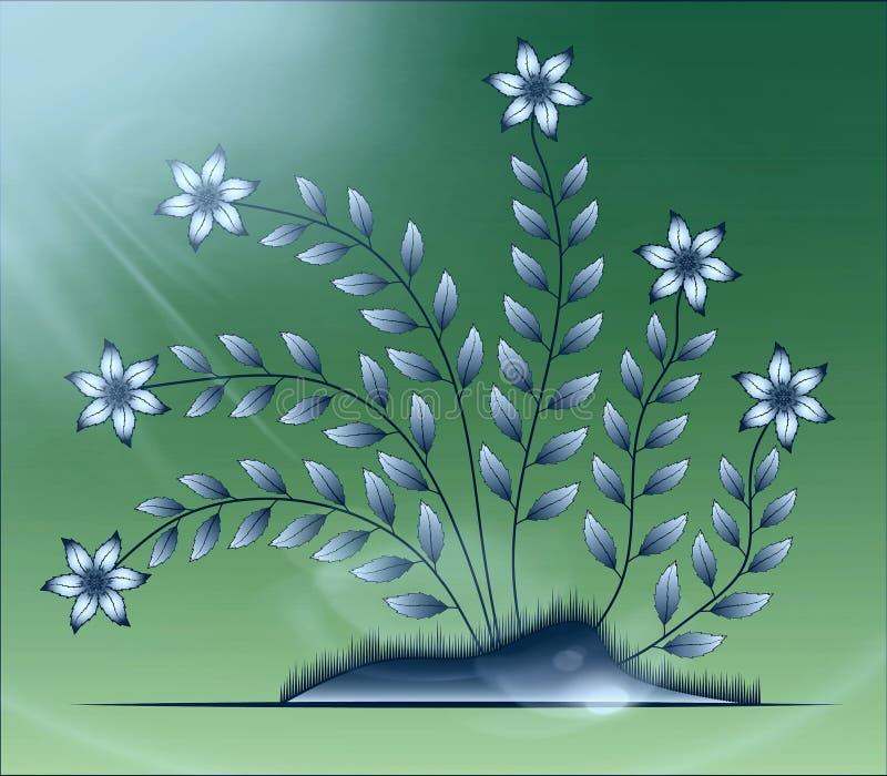 Flowers illustration on colourful background stock photos