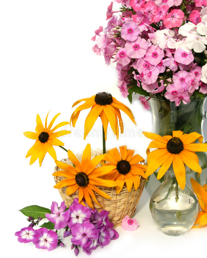 Free Flowers In A Basket Stock Images - 6242124