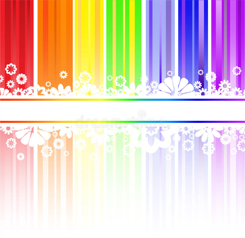 Free Flowers In Rainbow Stripes Royalty Free Stock Images - 17987609