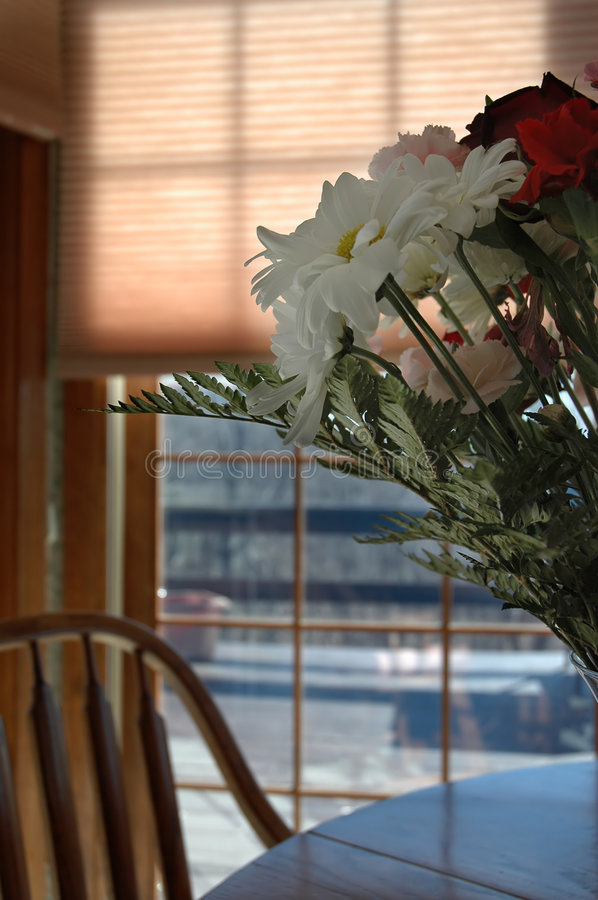 Download Flowers in the kitchen stock photo. Image of house, window - 524816