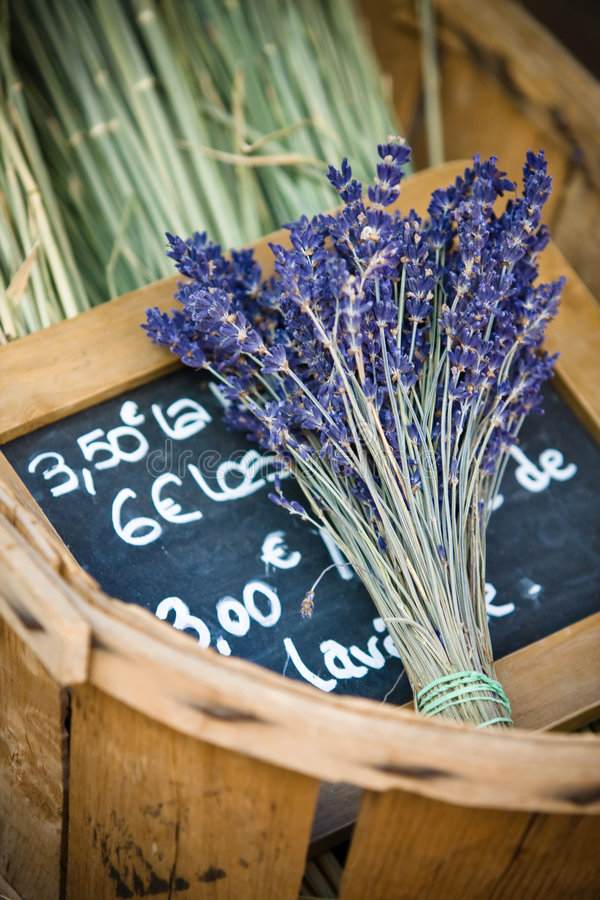 Download Flowers Of Lavender In The Wicker Basket Stock Photo - Image: 8341212