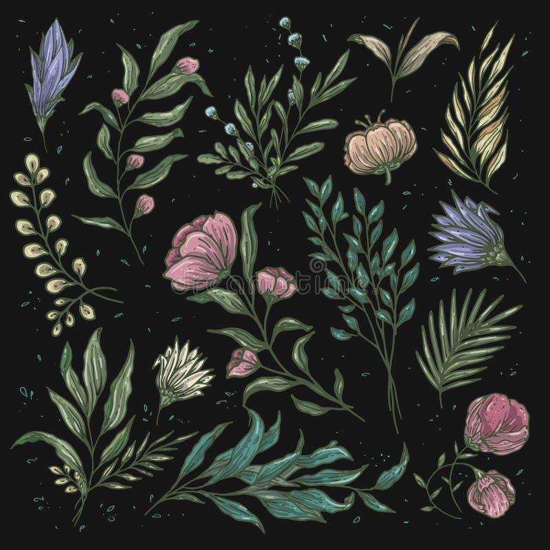 Vintage floral pattern soft color royalty free illustration