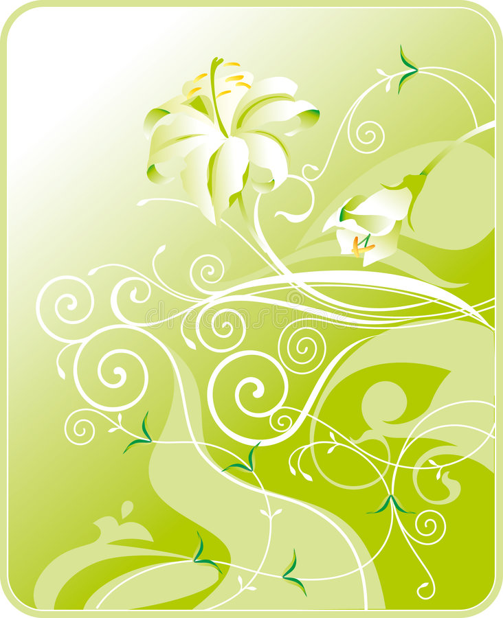 Flowers and leaves stock illustration