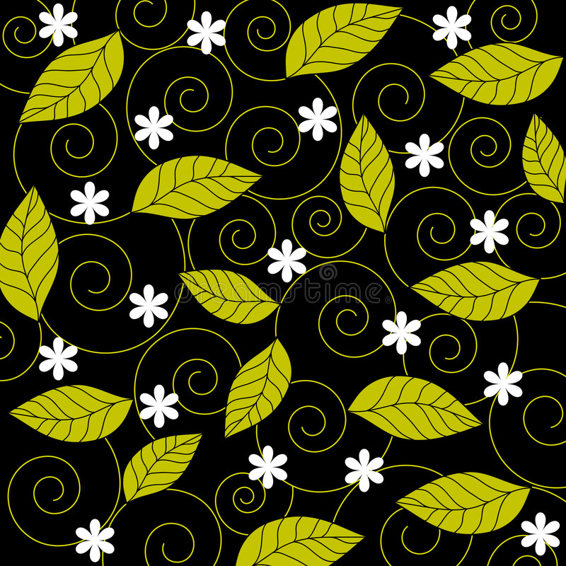 Flowers and leaves vector illustration