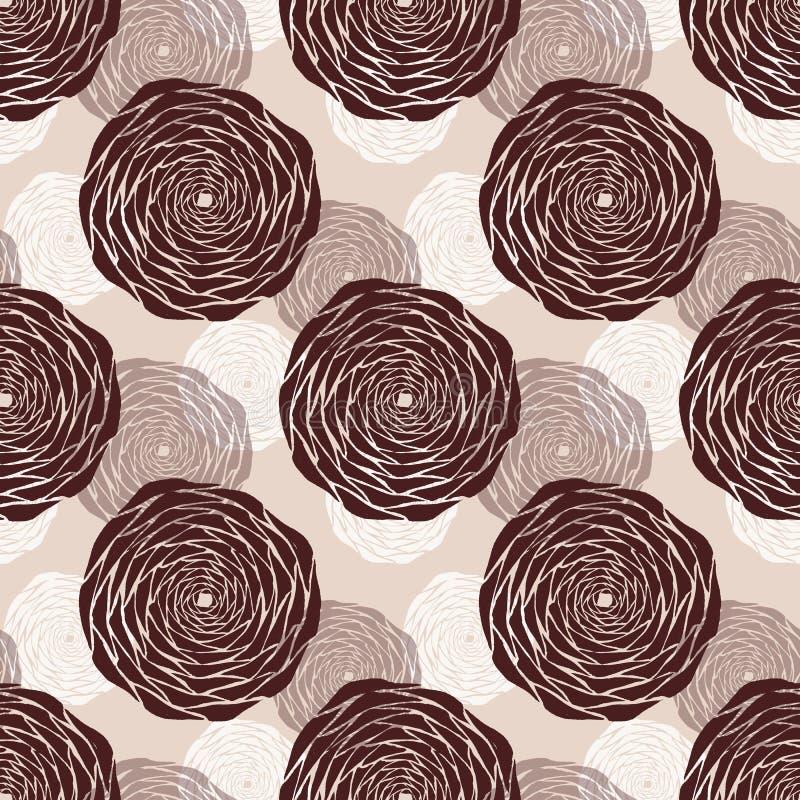 Rose flowers handmade watercolor seamless pattern gentle vector illustration