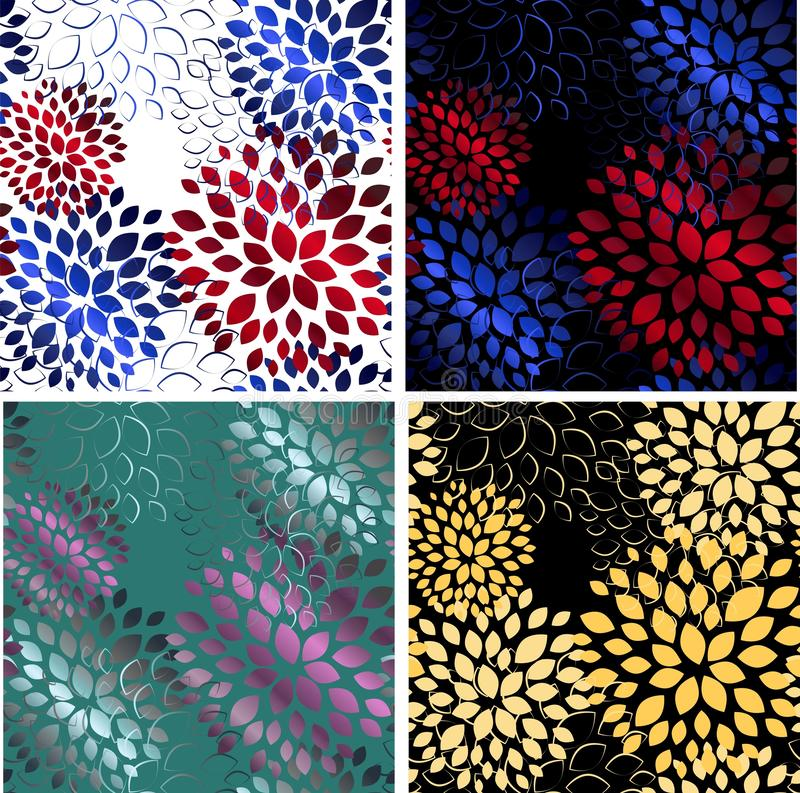 Flowers on light background. Decorative floral pattern. Beautiful seamless pattern for decoration design. Abstract fabric texture stock illustration