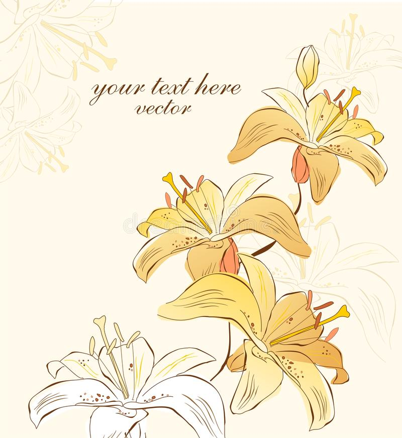Download Flowers of lily stock vector. Image of text, flower, ornamental - 27468494