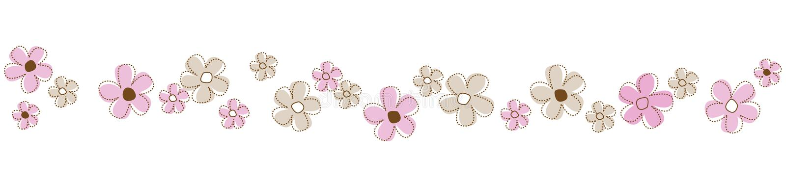 Flowers Line / Divider Royalty Free Stock Photos