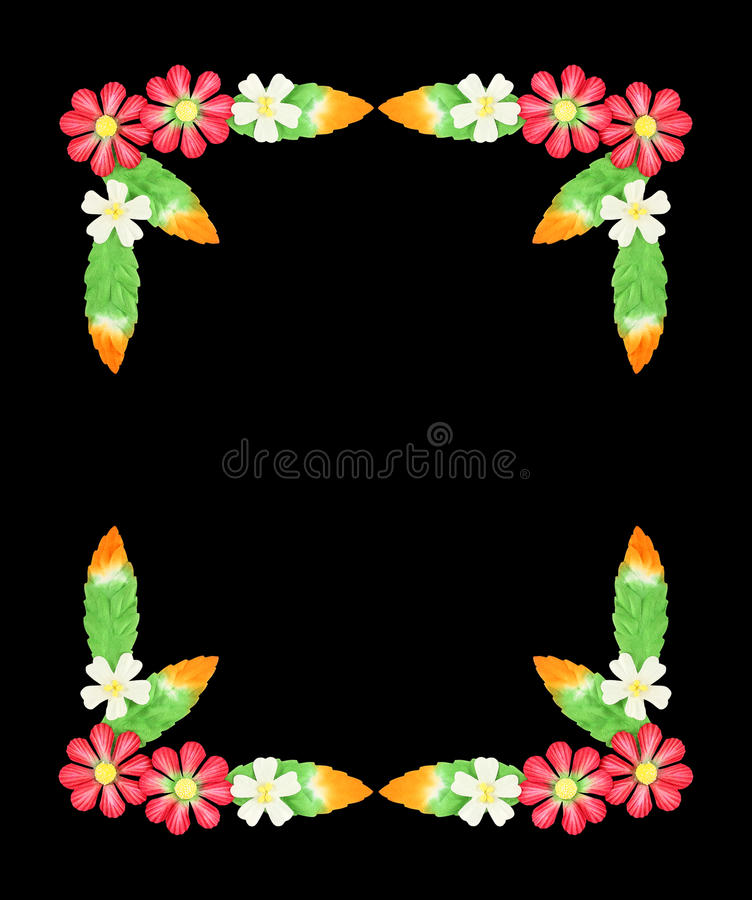 Flowers made of colorful paper used for decoration isolated on w royalty free stock photos