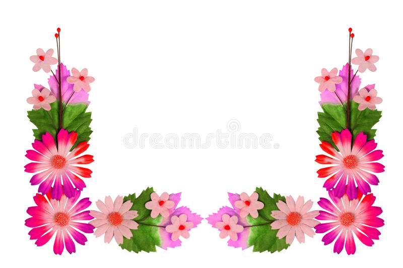 Flowers made of colorful paper royalty free stock photography